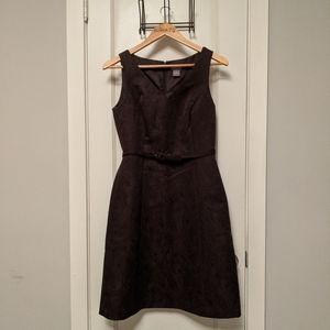 Brown Paisley Textured Ann Taylor Dress